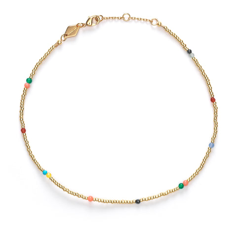 Confetti anklet, Gold