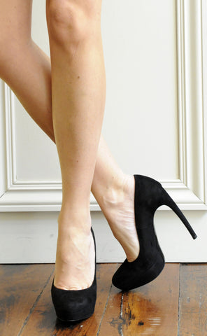 Armadillo Suede Pump 130, Black