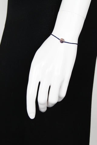 Merry Rose Gold w/ Navy Cord Bracelet