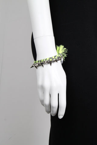 Punk Carnival Braided Bracelet Green