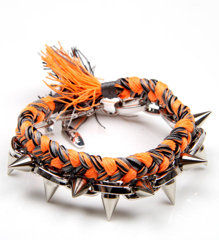 Punk Carnival Braided Bracelet Orange