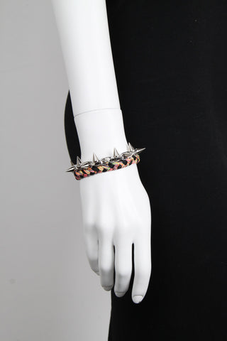 Punk Carnival Braided Bracelet Black