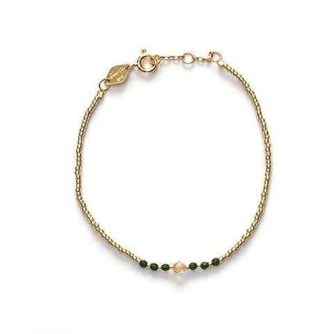 Bead & Gem Bracelet, Emerald