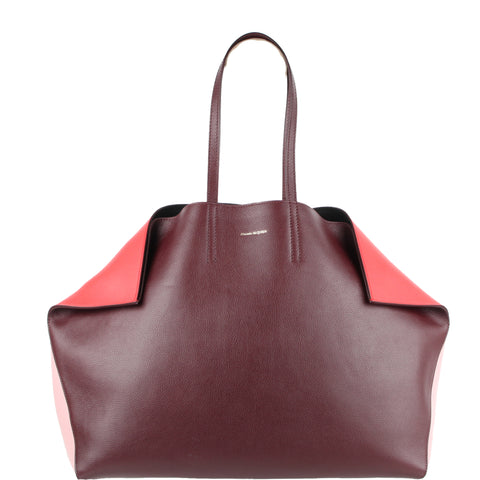 Butterfly Tote, Bi-Colour Red/Lust