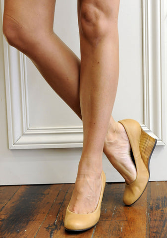 Ballerina Wood wedge, Biege