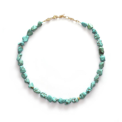Beach Cocktail Stone Necklace, Turquoise