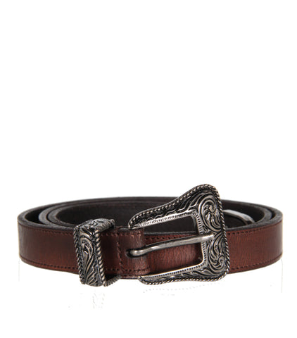 Western Belt Vintage Leather, Corteccia