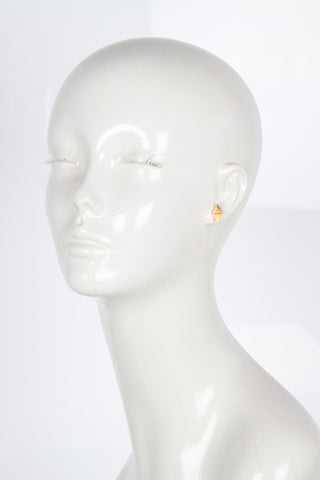 Billy Earring, Matte Gold