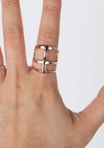 Cross Ring, Rose Gold