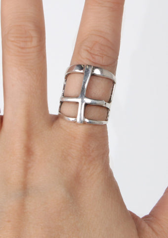 Cross Ring, silver