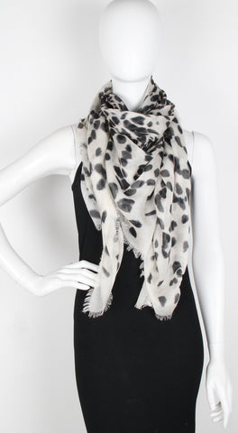 Leopard Big Skull, Ivory/Black