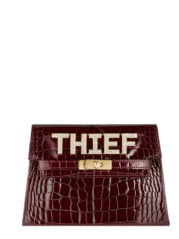 Elizabeth Thief Clutch,  Burgundy