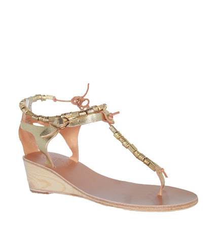 Chrysso wedge, gold by Ancient Greek Sandals Cultstatus