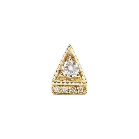 Deco Point Triangle Stud (Single), Yellow Gold
