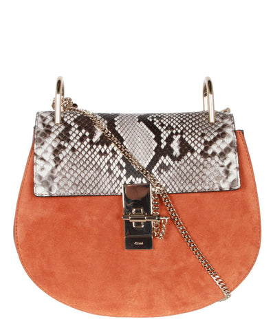 Drew Small Chain Python, Tan Red