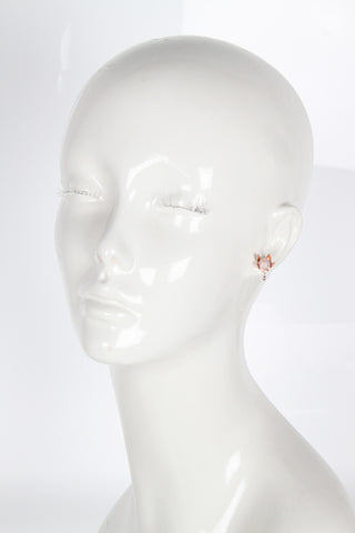 Pave Bud Stud Earrings, Rose Gold