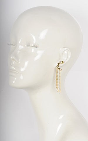 Lattice Ear Cuff Earrings with Chains