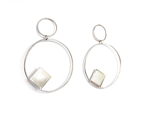 Elemental Earrings (Pair), Silver