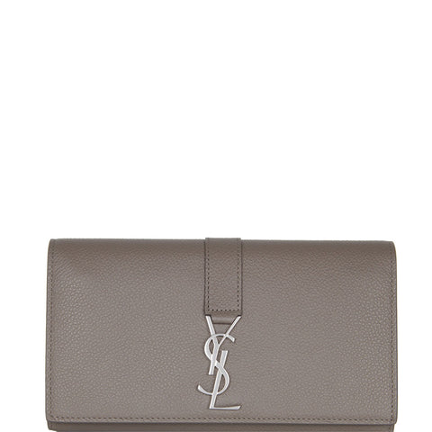 Y-Line Flap Wallet, Warm Taupe/Nickle