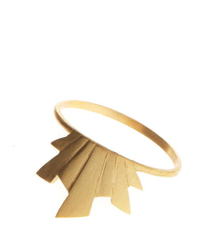 Frey Ring, Matte Gold