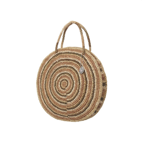 Boho Round Bag, Safari
