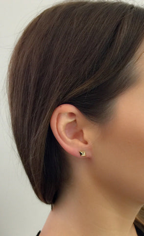 Billy Diamond Earring, 18k Rose Gold
