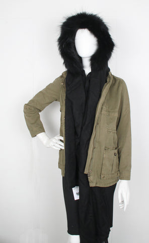 Fur Lined Hood, Black