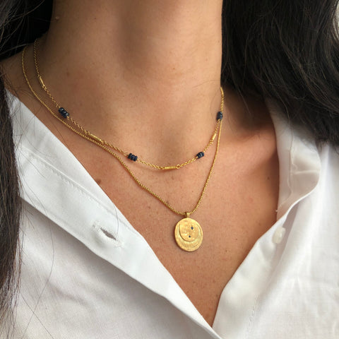 Celeste Necklace, Gold