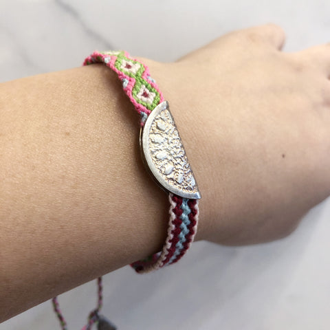 Watermelon Friendship Band, Silver