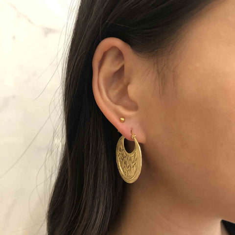 Peacock Earring, Gold