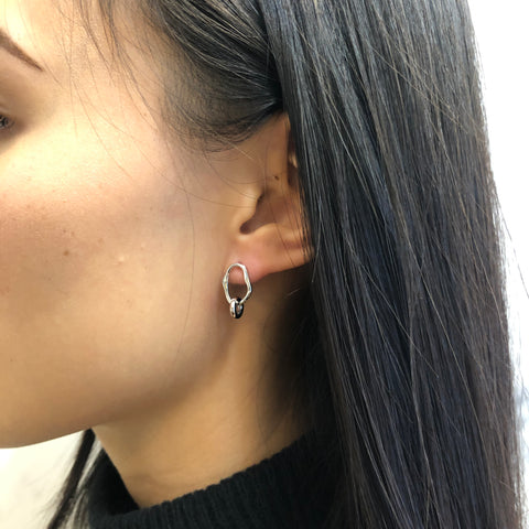 Midnight Mini Earring, Silver