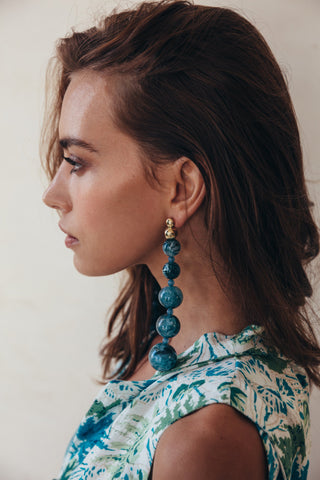 Kai Earrings, Azure