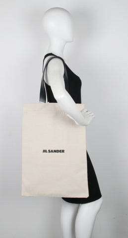 Flat Shopper Grande Linen, Off White