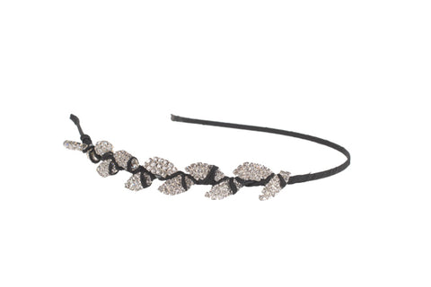 Half Foliage Headband, (S) Black