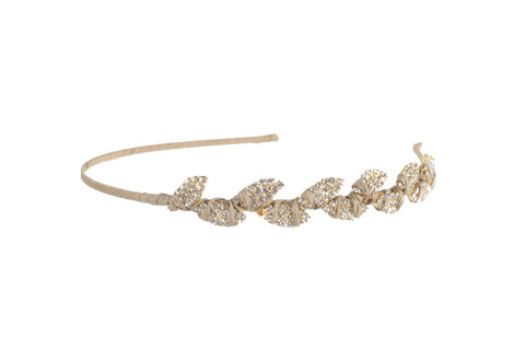 Half Foliage Headband, (G) Tan