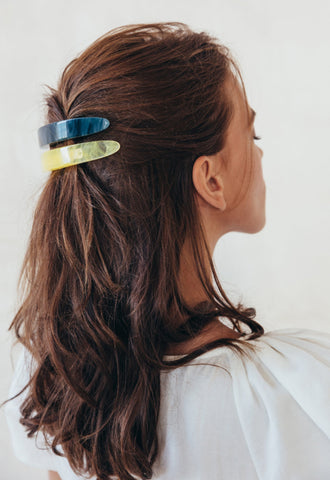 Large Barrette, Azure