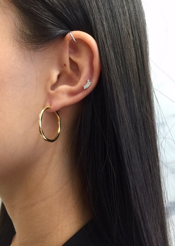 Francisca 22 Hoop Earring, High Polish Gold