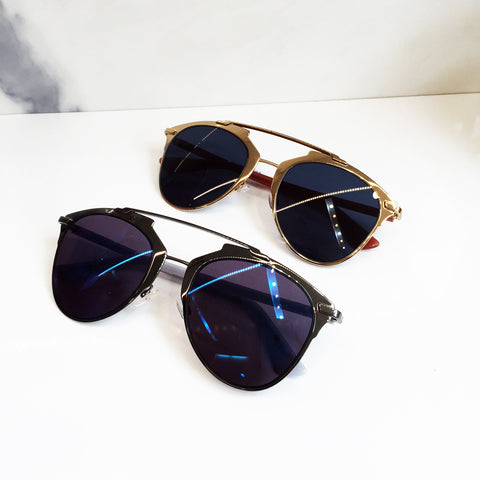 Dior Reflected, Gold Frame/Blue Lens