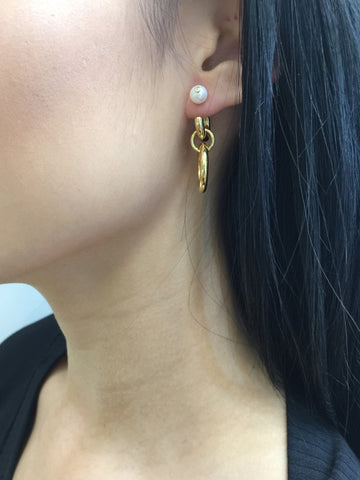 Chrissy Earring, HP Gold