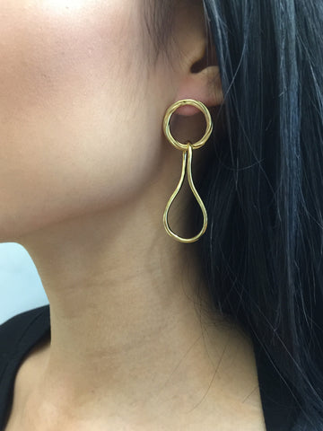 Elna Earring, High Polish YG