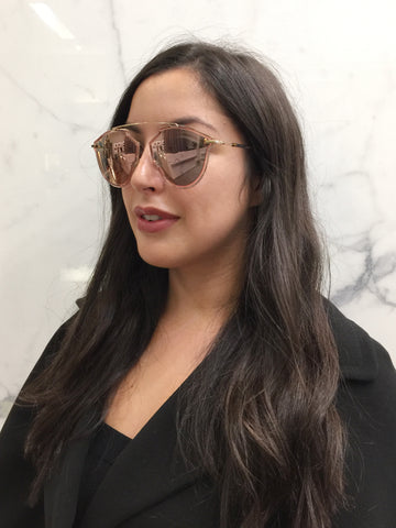 Dior So Real Rise Sunglasses, Pink/Gold