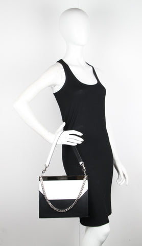 Bar Shoulder Bag, Black (S)