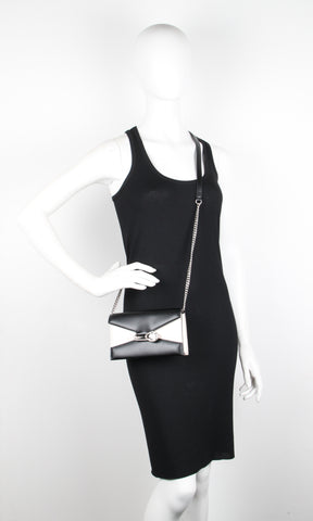 Pin Shoulder Bag Small, Bi-Colour Black/Silver