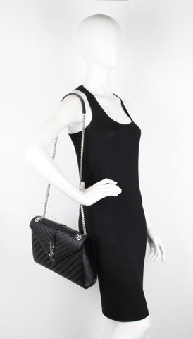 3 Mix Satchel Large, Black/Silver