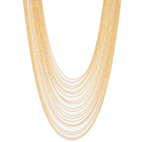 Eye M Multi Chain Necklace, Gold