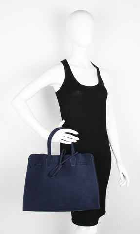 Large Sun Bag, Suede Blue