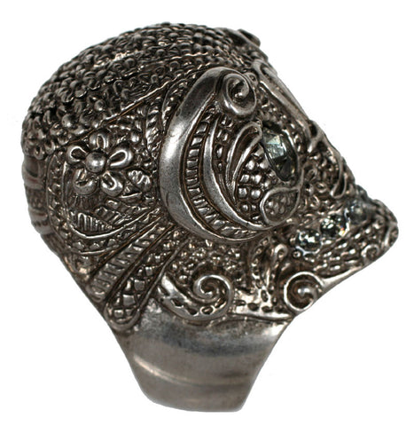Lace Ring, Antique Silver