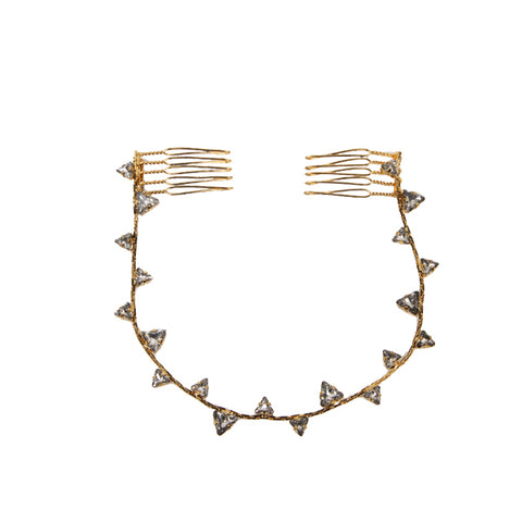 Shark Tooth Top Knot, Antique Gold