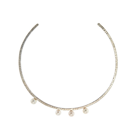 Lily of the Valley Choker, Silver