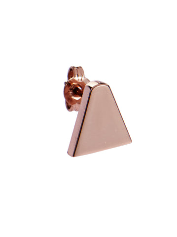 Ice Cream Cone Stud Earring, Rosegold